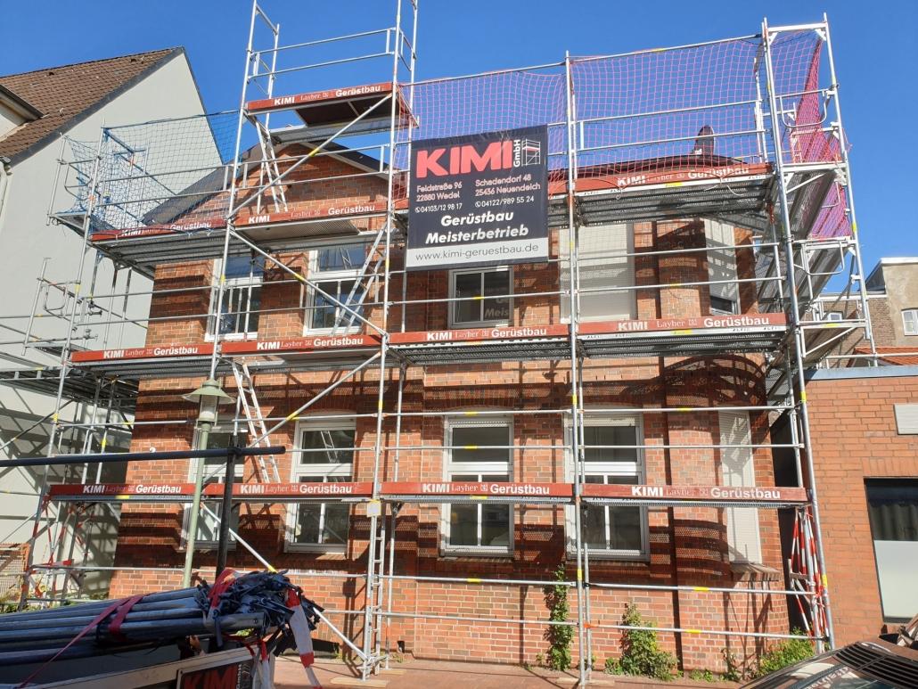 Kimi-Gerüstbau-Trockenbau-Fassadengerüst-Elmshorn-Panjestraße-Bild-1